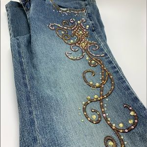 Angels hand beaded jeans